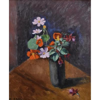 Maurice Asselin (1882-1947), Bouquet Of Flowers, Oil On Canvas Signed