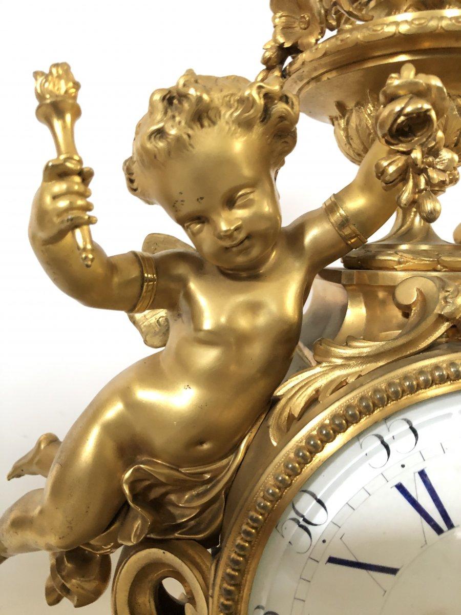Pendule Imposante D'époque Napoleon III. Hauteur 54 cm.-photo-1