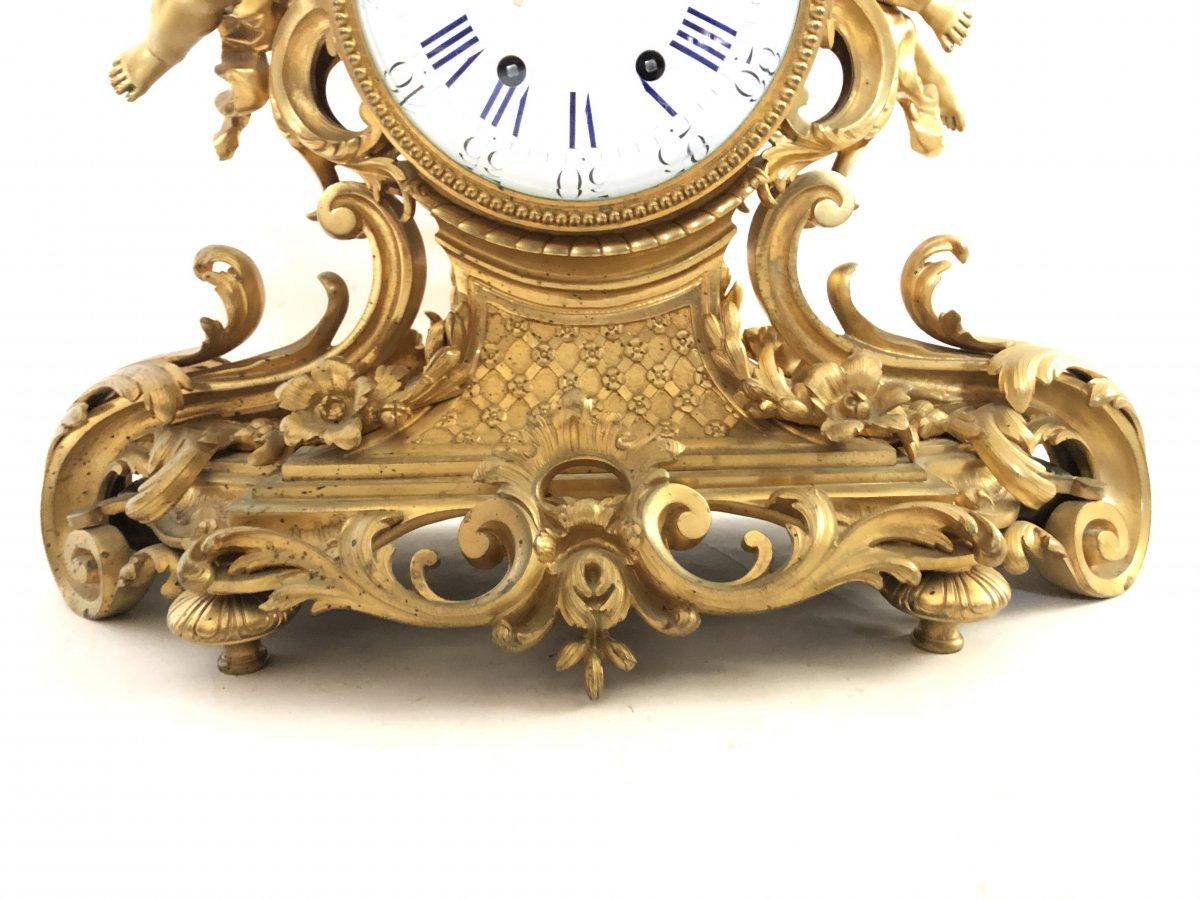 Pendule Imposante D'époque Napoleon III. Hauteur 54 cm.-photo-3