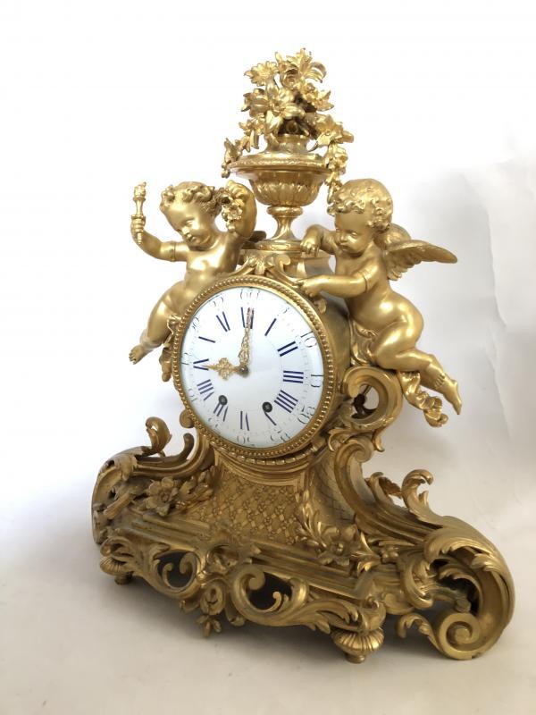 Pendule Imposante D'époque Napoleon III. Hauteur 54 cm.-photo-2