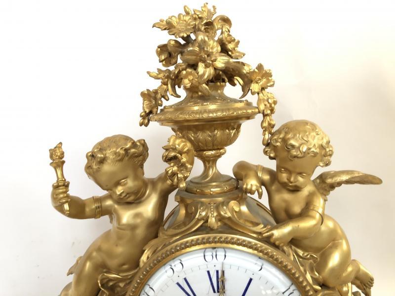 Pendule Imposante D'époque Napoleon III. Hauteur 54 cm.-photo-4