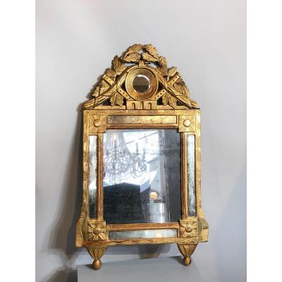 Louis XVI Mirror In Golden Wood.