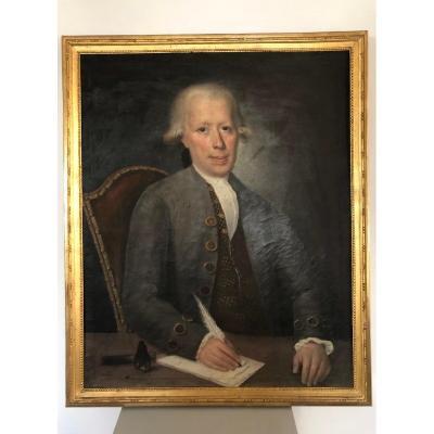 Portrait D'homme XVIII éme Siècle.