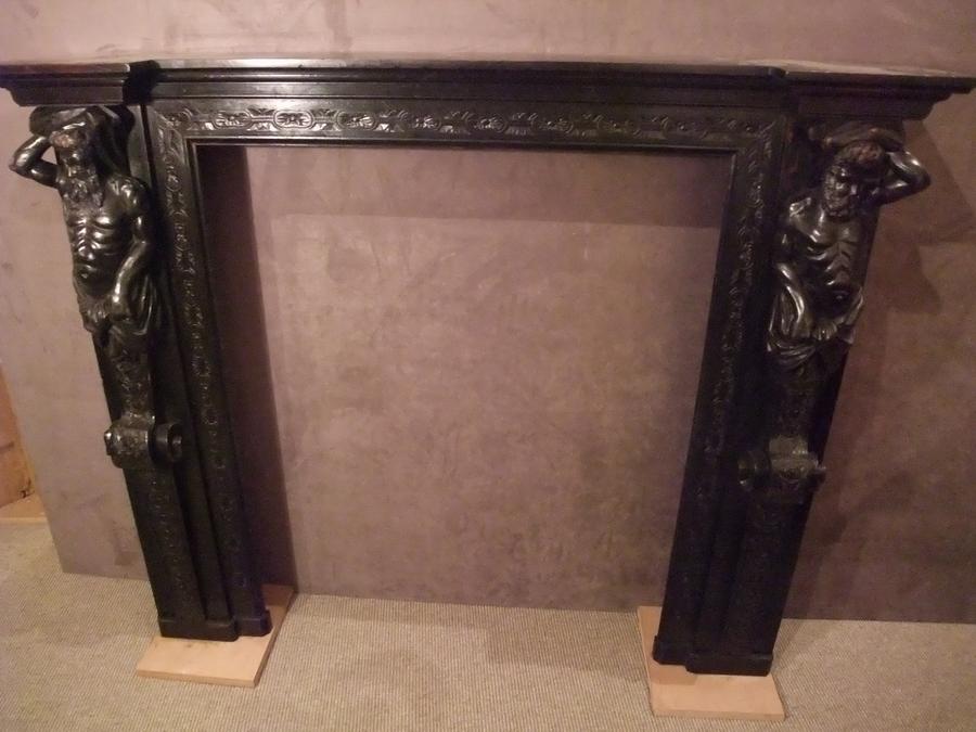 Fireplace In Cariatides
