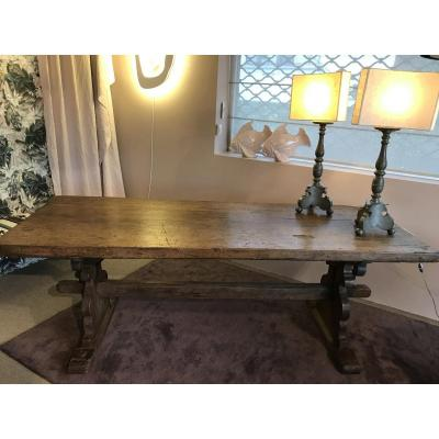 Abbey Table End XVIth Italian Oak