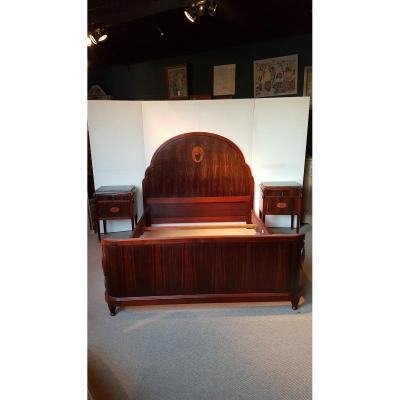 Lit et chevets et chaises 1930