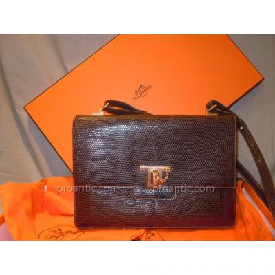 Hermès Vintage Lizard Bag 1960 Excellent Condition Signed Hermes