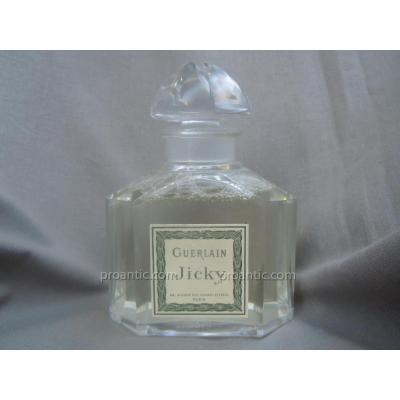 Jicky 1889 Guerlain Quadrilobé Crystal Baccarat Bottle 11.3cm