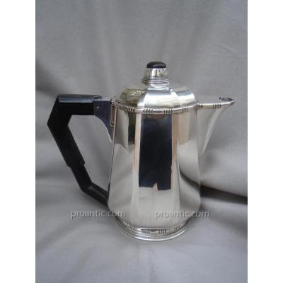 Modern Art Deco Coffee Maker 1930 Sterling Silver 880 Gr