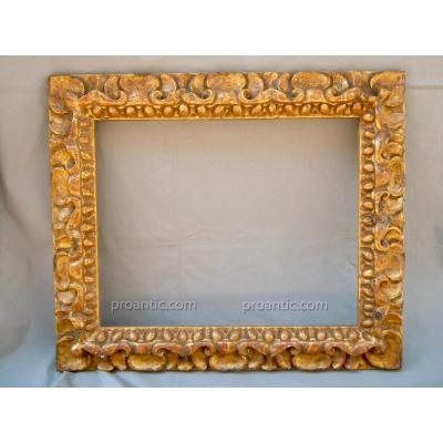 Richard Tobey Frame Hand Carved Wood Gilded Style Spain Or Italy XVII
