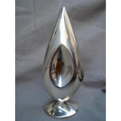 Trophée Sculpture Flamme Argent Massif Minerve Signé Léon Maeght