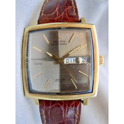 Zenith Montre Bracelet Homme 1970 Modèle Respirator Luxe Af/p Automatique Automatic  Jour Date