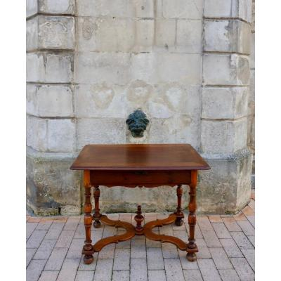 Middle Table In Gaiac Mahogany By C Gaiac Furniture Port Work La Rochelle Louis XIV Period