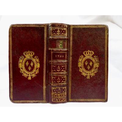 Almanach Royalde Versailles Aux Armes De Louis XVI Year 1789 Blaizot In-12 Maroquin Bordeaux XVIIIème