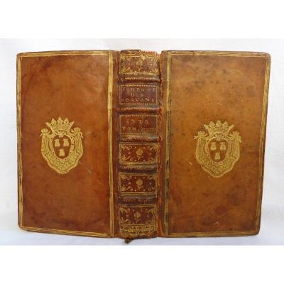 Journal Des Sçavans January 1736 Binding With The Arms Of Jeanne Antoinette Poisson Marquise De Pom