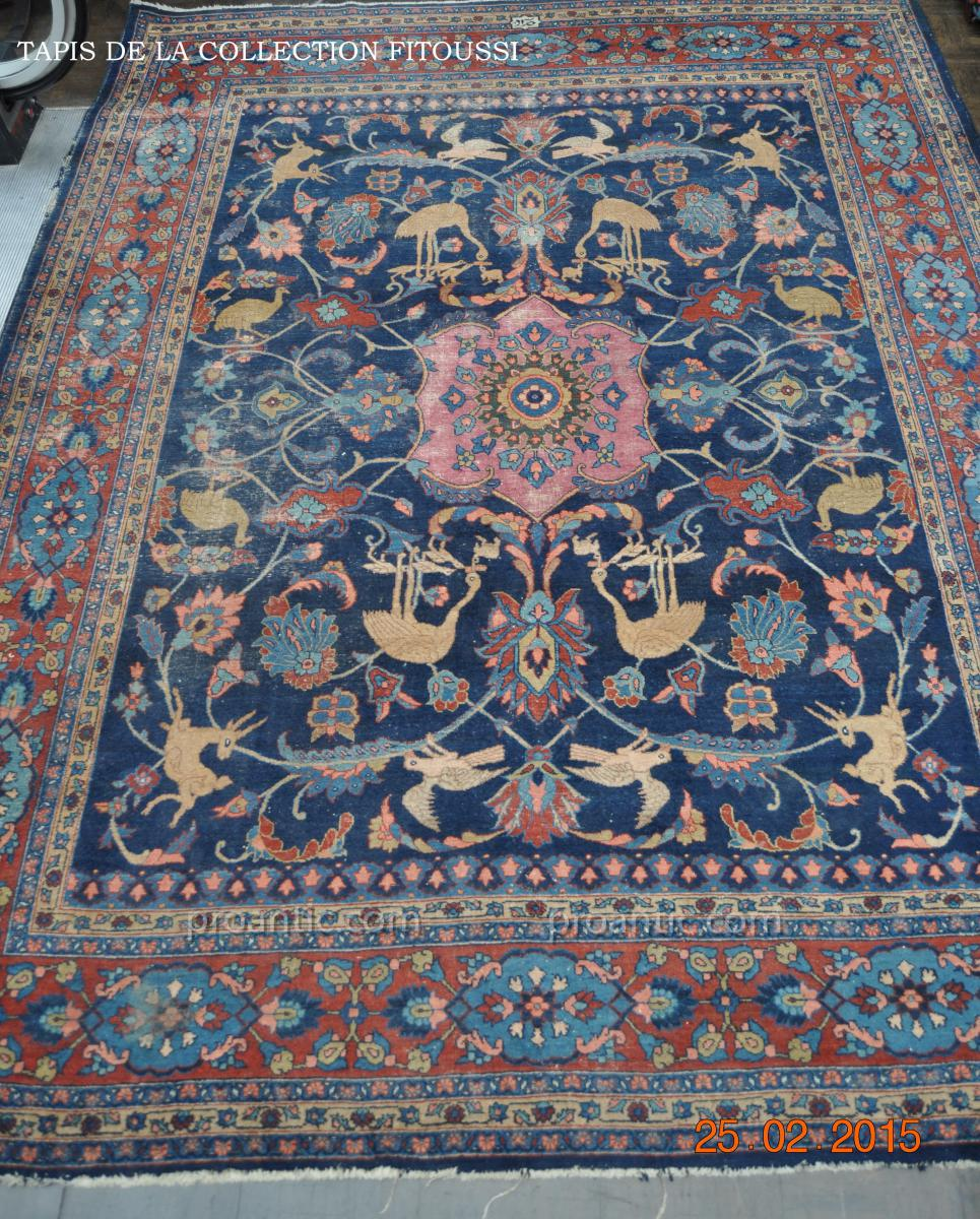 tapis mahal ancien iran tapis tapisseries. Black Bedroom Furniture Sets. Home Design Ideas