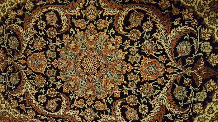 Tapis Iran Isfahan Extra Fin Laine & Soie