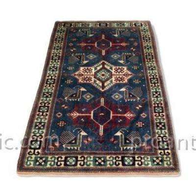 Kazak Carpet Akstafa Mid 20th Century