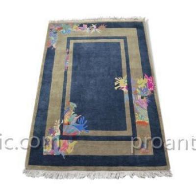 Carpet From Nepal Art Deco Signed Yssima Nini Ferrucci