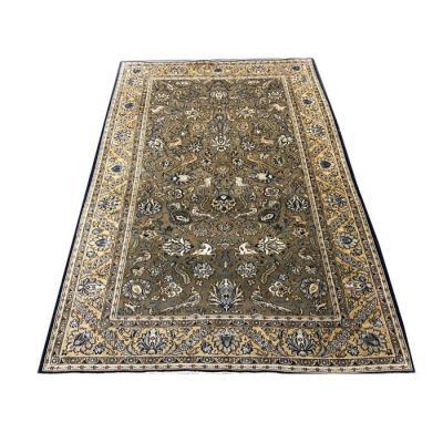 Carpet Iran Ghoum Wool Kurk & Silk Circa 1970
