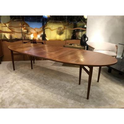 Table De Salle à Manger Modèle 212, Design Danois De Arne Vodder, Années 1960