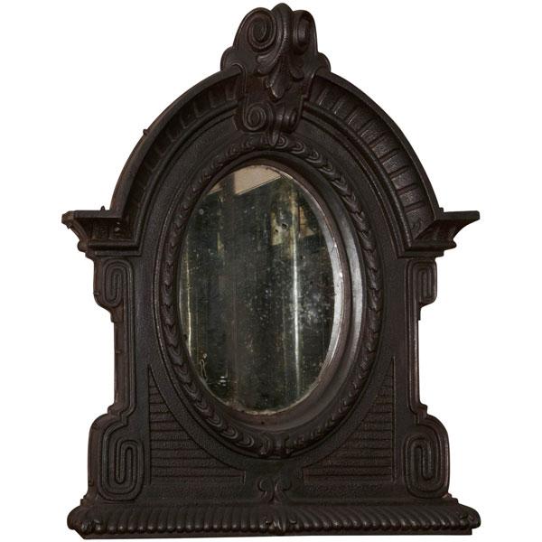 miroir 39 oeil de boeuf 39 en fonte miroirs. Black Bedroom Furniture Sets. Home Design Ideas