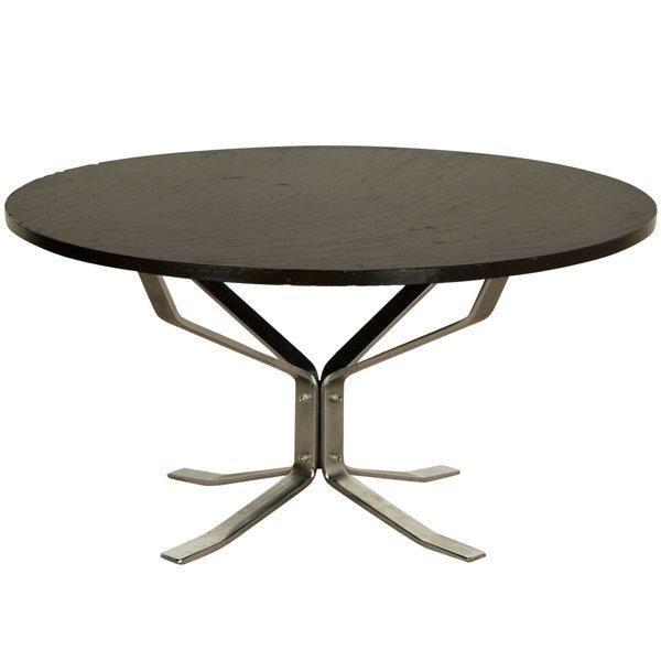 Table Basse Design Norvégien 1970, Sigeurd Ressel Pied Chrom