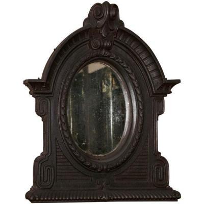 Miroir ' Oeil De Boeuf ' En Fonte.