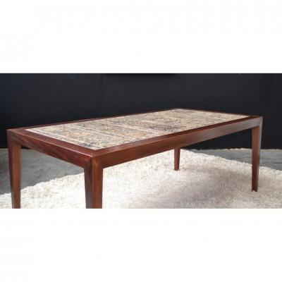 Coffee Table And Royal Copenhagen Danish Palissadre