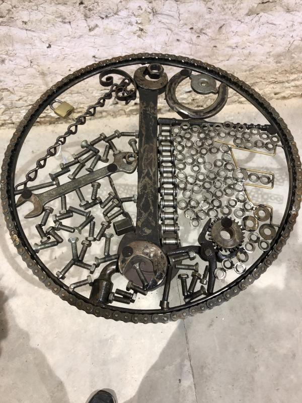 Industrial Pedestal Unique Artist's Piece-photo-2