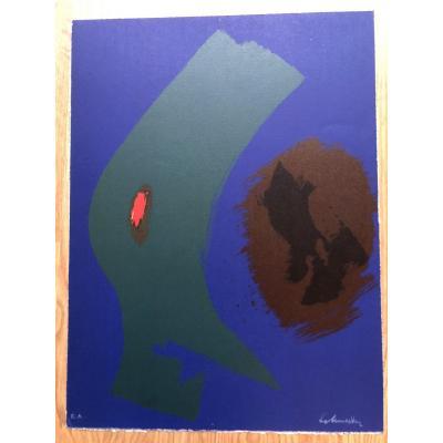 Lithographie De Gérard Schneider épreuve d'Artiste Signée, Années 1970/80