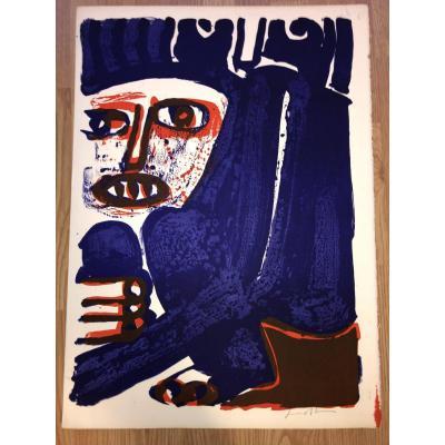 Lithographie  De Bengt LindstrÖm signée, Années 1960/70