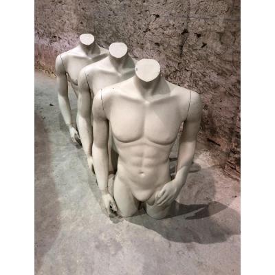 Mannequin d'Atelier En Fibre De Verre laquée blanc Des Années 1970/80