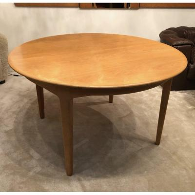 Extendable Dining Table, 1960s Scandinavian Design In Oak