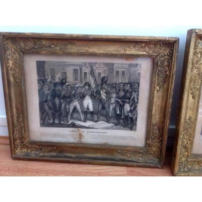 Two Framed Prints Of Napoleon