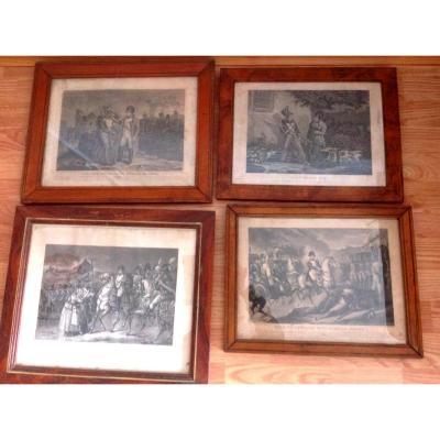 4 Antique Prints By Napoleon, Bonaparte