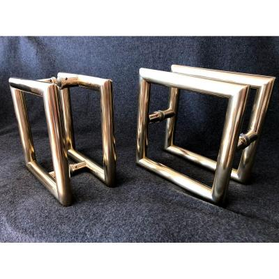 Bronze Door Pull Cuffs.
