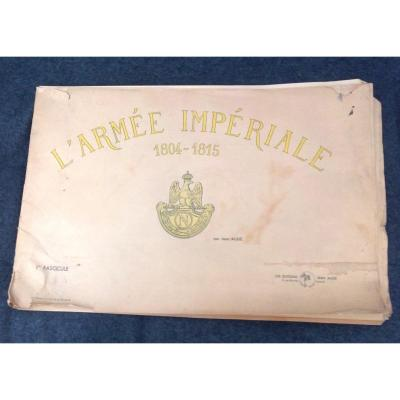 Large Booklet On The Uniforms Of The 1st. Empire Of The French Army, By Jean Augé.