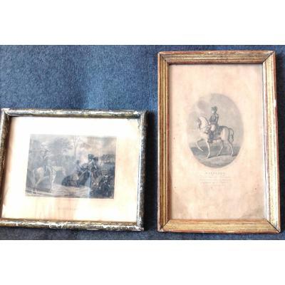 2 Engravings Of Napoleon