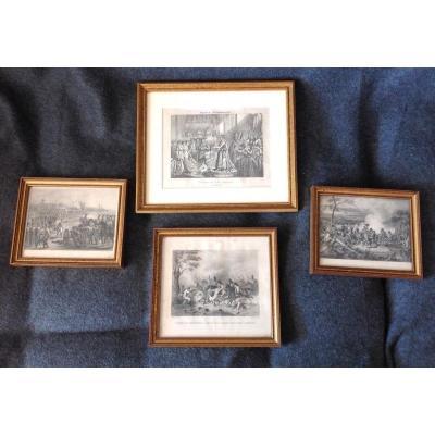 4 Engravings Of Napoleon