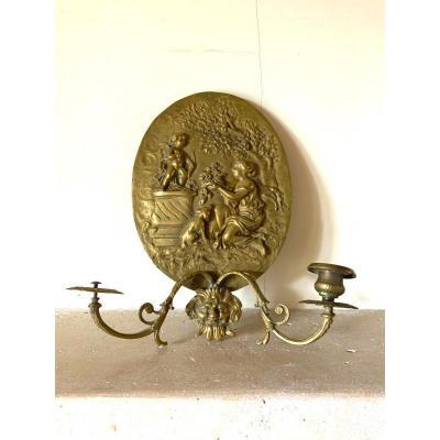 Applique écusson Ovale En Bronze