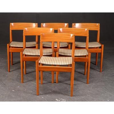 Série De 6 Chaises Design Danois Années 1960 De Grete Jalk