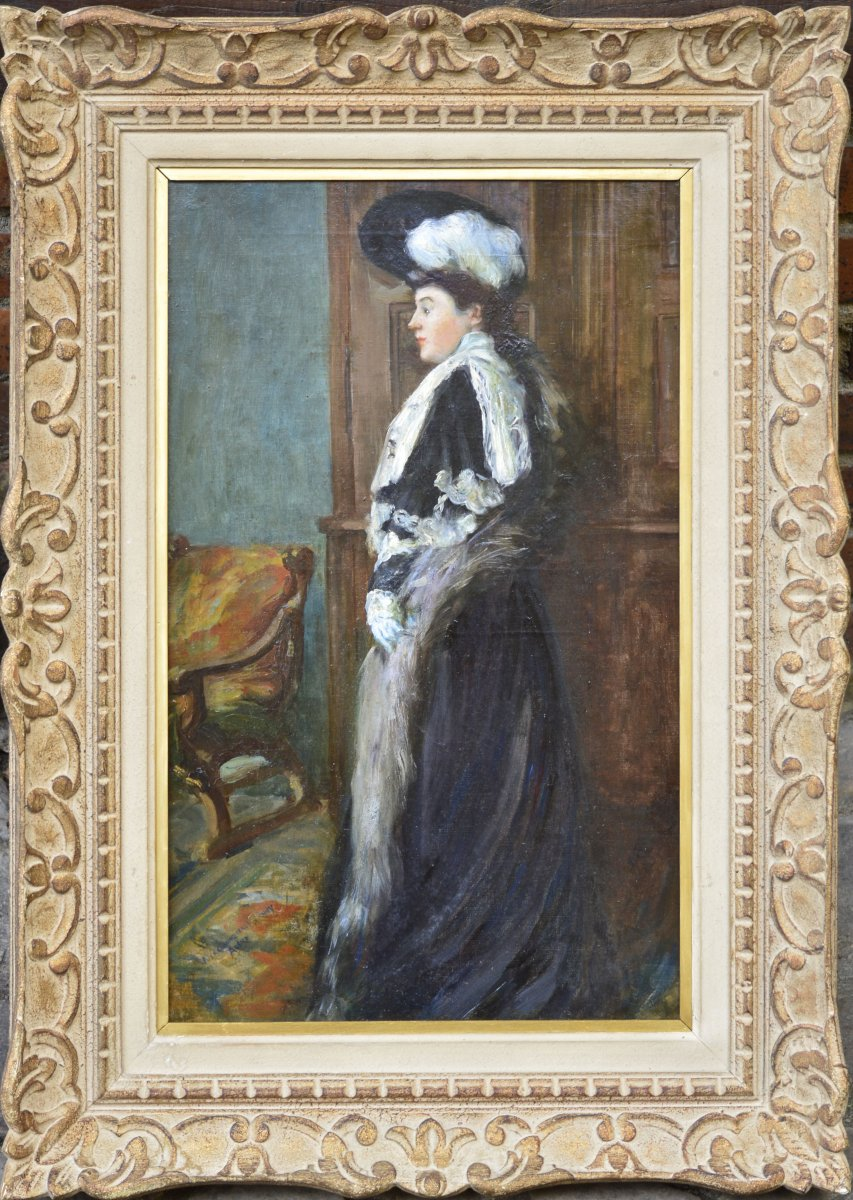 Gustave Assire: Elegant With Hat.