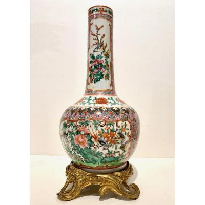 Vase Porcelaine Monture Bronze