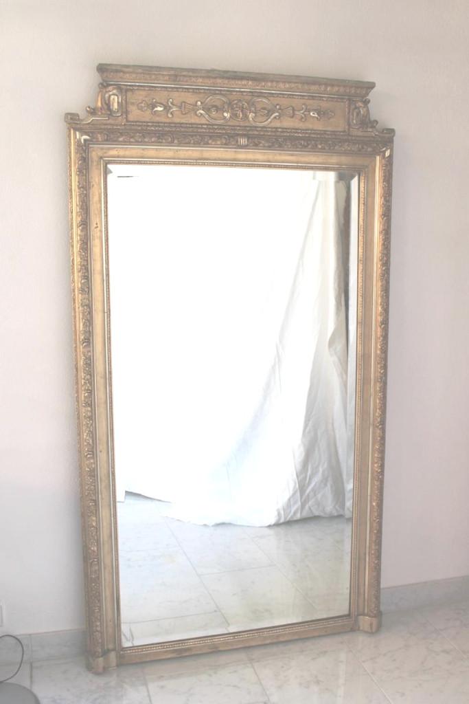 Miroir De Cheminée Style Napoleon III Bruxelles 1903