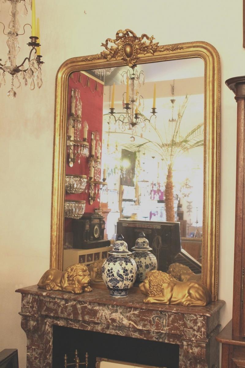 Grand miroir de chemin e louis philippe ch buquet paris - Miroir de cheminee ...