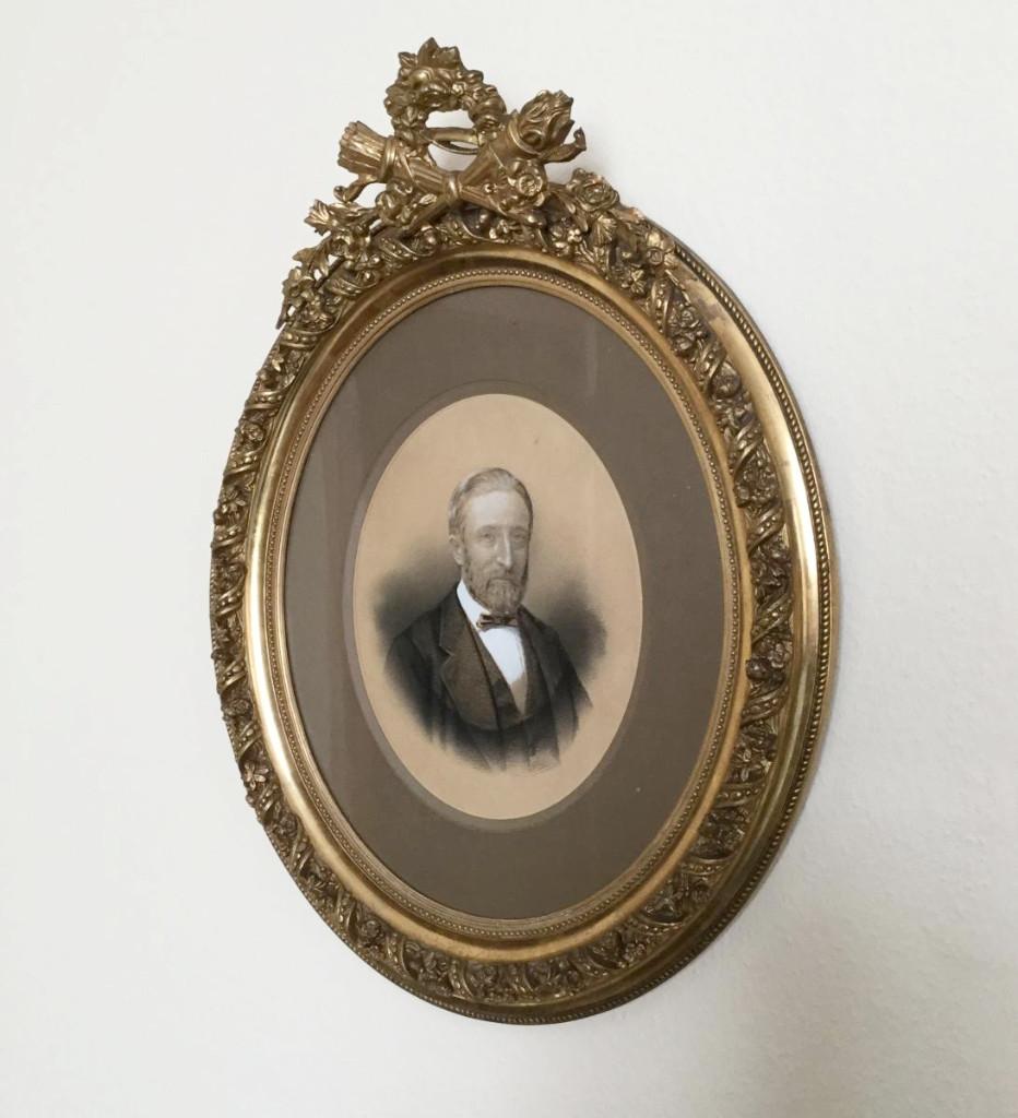 Portrait Man In Golden Frame Photography Armand Dandoy