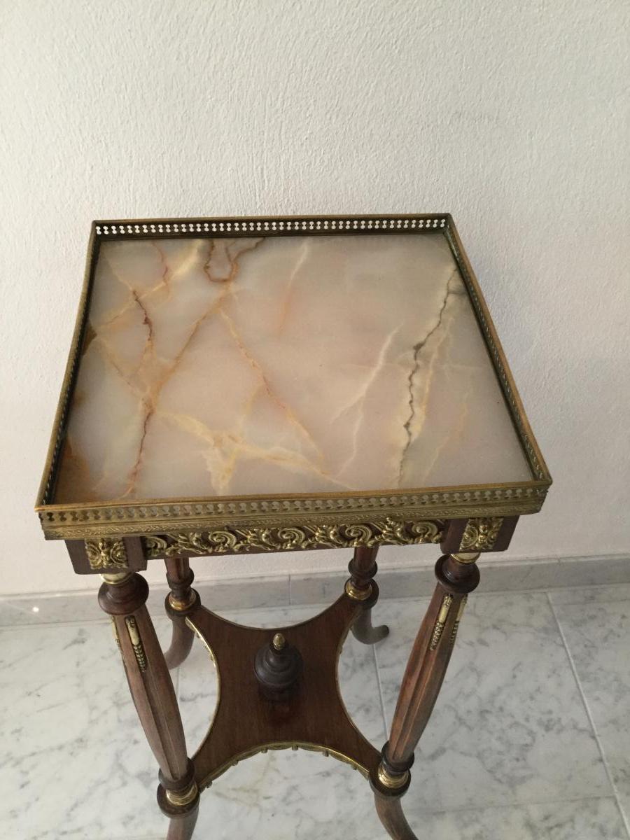 Guéridon Table d'Appoint Selette Table De Salon Napoleon III -photo-2