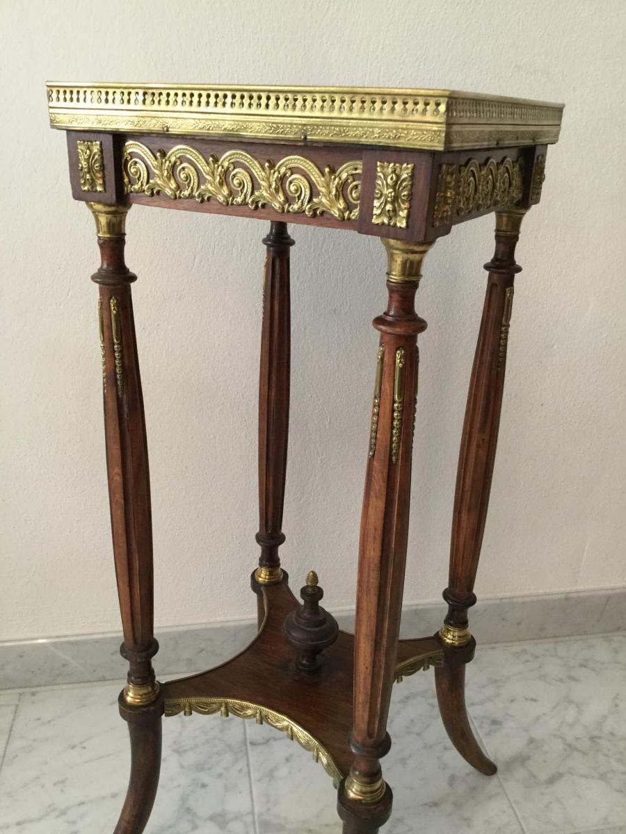 Guéridon Table d'Appoint Selette Table De Salon Napoleon III -photo-4