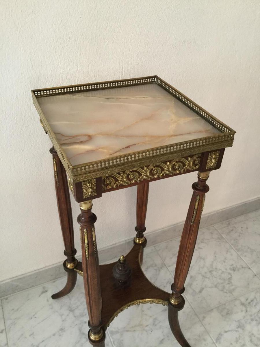 Guéridon Table d'Appoint Selette Table De Salon Napoleon III -photo-6